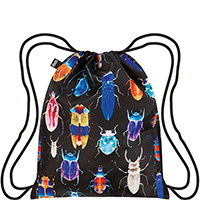 Черный рюкзак Loqi Wild с цветным принтом, фото