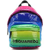 Стеганый рюкзак Dsquared2 с лакированным эффектом, фото