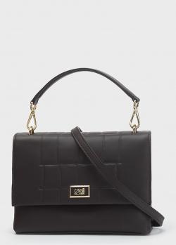 Темно-коричневая сумка Cavalli Class со съемным ремнем, фото