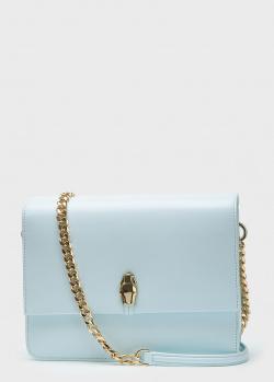 Голубая сумка Cavalli Class из гладкой кожи, фото