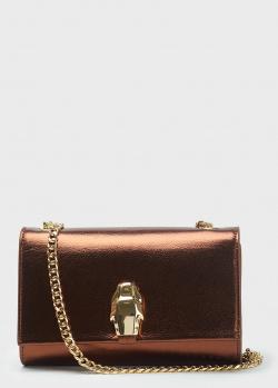 Сумка-клатч Cavalli Class бронзового цвета, фото