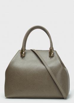 Серая сумка-тоут Cavalli Class из фактурной кожи, фото