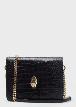 Черная сумка Cavalli Class с ремнем-цепочкой, фото
