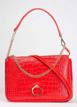 Лаковая красная сумка Cavalli Class Eloise со съемный ремнем, фото