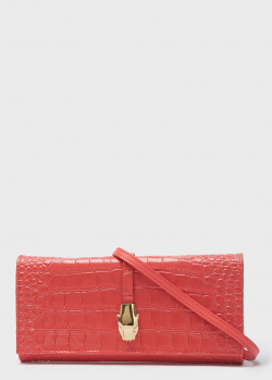 Коралловая сумка-клатч Cavalli Class Olivia из кожи с тиснением, фото