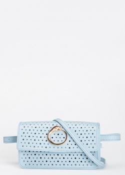Голубая поясная сумка Cavalli Class  Eva с дополнительным плечевым ремнем, фото