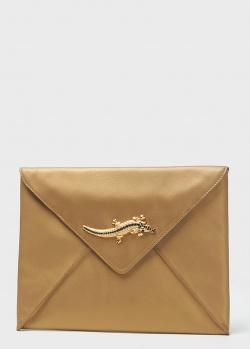 Клатч-конверт Cavalli Class Mademoiselle золотистого цвета, фото