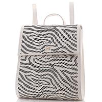 Белый рюкзак Cavalli Class Audrey с декоративной перфорацией, фото
