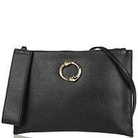 Черная сумка-клатч Cavalli Class Doris прямоугольной формы, фото