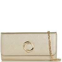 Золотистая сумка-клатч Cavalli Class Doris со съемной цепочкой, фото