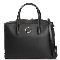 Черная сумка Cavalli Class Diva декорированная заклепками, фото