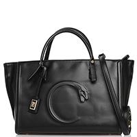 Деловая сумка Cavalli Class Fall snake 3D черного цвета, фото