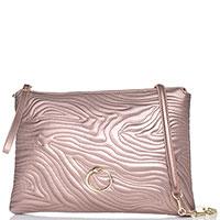 Стеганая сумка-клатч Cavalli Class Night Zebra цвета медная роза, фото