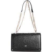 Черная сумка Cavalli Class Venus с резным орнаментом, фото