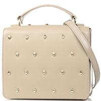 Маленькая сумка Cavalli Class Yaara из гладкой бежевой кожи, фото