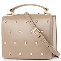 Темно-бежевая сумка Cavalli Class Yaara из гладкой кожи, фото