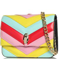 Разноцветная сумка Cavalli Class Milano RMX на цепочке, фото