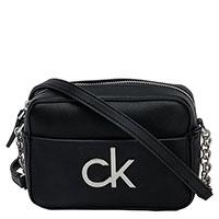 Сумка Calvin Klein черная с логотипом, фото
