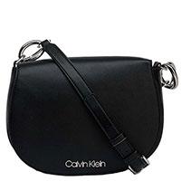 Сумка-седло Calvin Klein черного цвета, фото