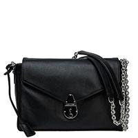 Черная сумка Calvin Klein на цепочке, фото