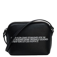 Черная сумка Calvin Klein с контрасной надписью, фото