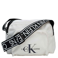 Белая сумка Calvin Klein на широком ремне, фото