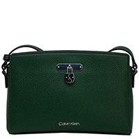 Сумка Calvin Klein зеленого цвета с логотипом, фото