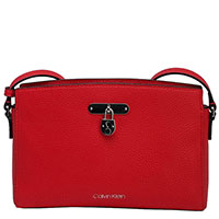 Сумка Calvin Klein красного цвета, фото