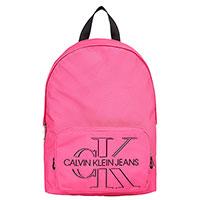 Рюкзак Calvin Klein розового цвета с логотипом, фото