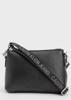 Женская сумка Calvin Klein с вышитым ремешком, фото