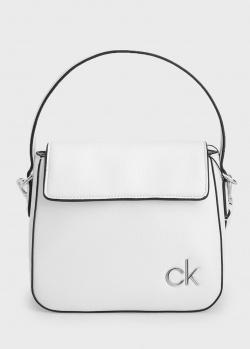Белая сумка Calvin Klein с логотипом, фото