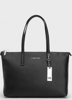 Черная сумка-шоппер Calvin Klein из экокожи, фото