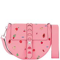 Розовая сумка Coccinelle с принтом, фото