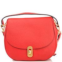 Красная сумка Coccinelle Zaniah из мягкой кожи, фото