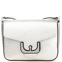 Маленькая сумка Coccinelle Ambrine из серебристой кожи, фото