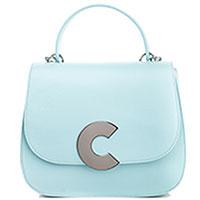 Голубая сумка Coccinelle Craquante с фирменным декором, фото