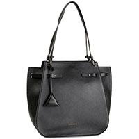 Черная сумка-тоут Coccinelle Didi со съемным кулоном, фото