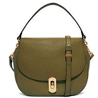 Темно-зеленая сумка Coccinelle Zaniah из зернистой кожи, фото