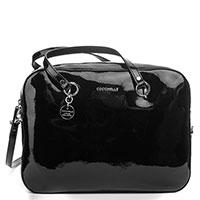 Лакированная сумка Coccinelle черного цвета, фото