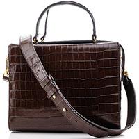 Деловая сумка Coccinelle с тиснением кроко , фото