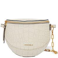 Женская поясная сумка Coccinelle Blackie Croco в белом цвете, фото