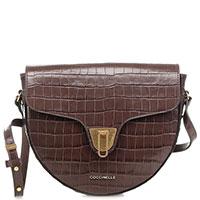 Женская сумка кросс-боди Coccinelle Linea коричневого цвета, фото