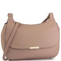Женская сумка флеп-бег Coccinelle Cher бежевого цвета, фото