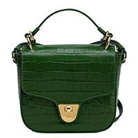 Зеленая сумка Coccinelle с принтом под рептилию, фото