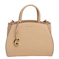 Женская сумка-тоут Coccinelle бежевого цвета, фото