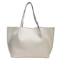 Белая сумка Coccinelle из блестящей кожи, фото