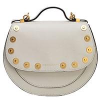 Белая сумка Coccinelle с декором-заклепками, фото