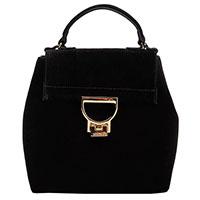Рюкзак Coccinelle из черной замши, фото
