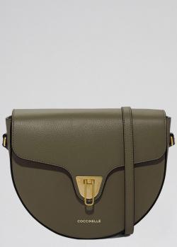 Сумка-седло Coccinelle темно-зеленого цвета, фото