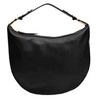 Черная сумка-седло Coccinelle с золотистой фурнитурой, фото